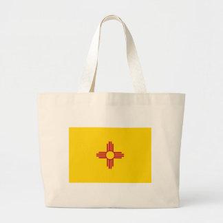 ニューメキシコの州の旗のバッグ ラージトートバッグ