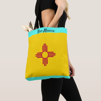 ニューメキシコの布のトートの市場のバッグは名前を個人化します トートバッグ