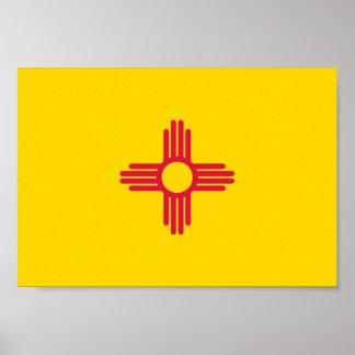 ニューメキシコの旗 ポスター