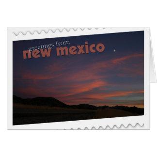 ニューメキシコの日没 カード