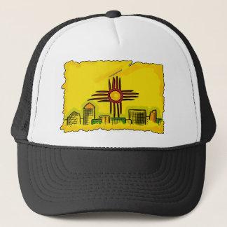 ニューメキシコの芸術的なスカイラインの州の旗の帽子 キャップ