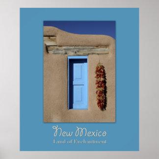 ニューメキシコの青い窓ポスター ポスター
