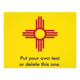 ニューメキシコ、米国の旗が付いているフライヤ チラシ