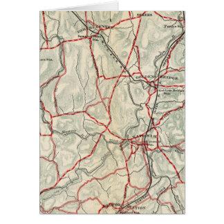 ニューヨークおよびコネチカット12の自転車の道 カード