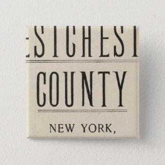 ニューヨークおよびコネチカット13の自転車の道 5.1CM 正方形バッジ