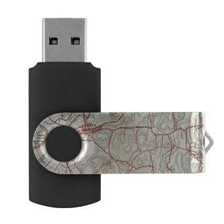 ニューヨークおよびコネチカット2の自転車の道 USBフラッシュドライブ
