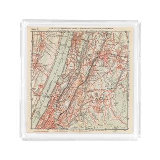 ニューヨークおよびコネチカット3の自転車の道 アクリルトレー