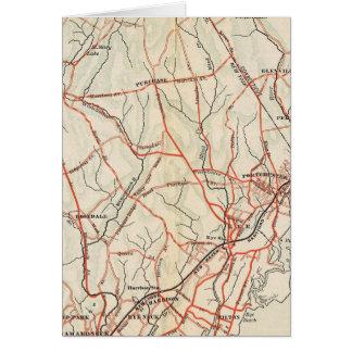 ニューヨークおよびコネチカット3の自転車の道 カード