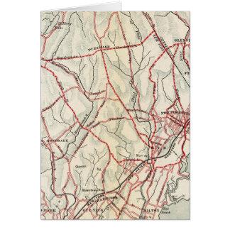 ニューヨークおよびコネチカット6の自転車の道 カード