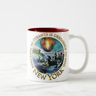 ニューヨークのお茶会のマグ ツートーンマグカップ