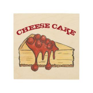 ニューヨークのさくらんぼのチーズケーキのチーズケーキの食糧ベーカリー ウッドウォールアート