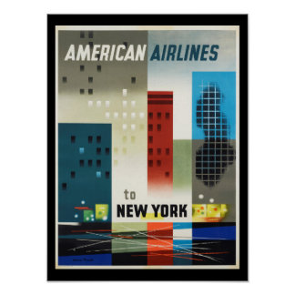 ニューヨークのアールデコのヴィンテージポスター ポスター