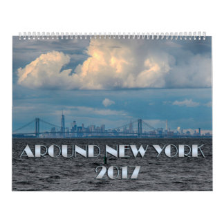 ニューヨークのカレンダー2017年のまわり カレンダー