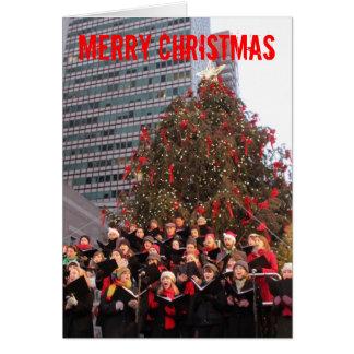 ニューヨークのクリスマス グリーティングカード