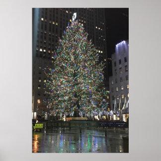 ニューヨークのクリスマスNYCロックフェラーの中心の木 ポスター