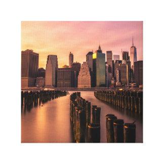 ニューヨークのスカイライン キャンバスプリント