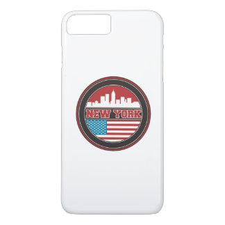 ニューヨークのスカイライン|米国は印を付けます iPhone 8 PLUS/7 PLUSケース