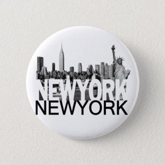ニューヨークのスカイライン 缶バッジ