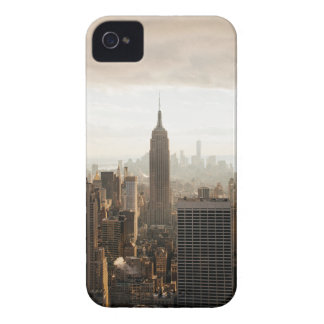 ニューヨークのスカイライン-薄暗がり-灰色 Case-Mate iPhone 4 ケース