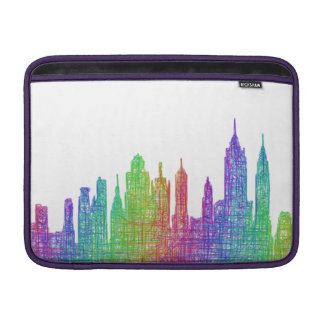 ニューヨークのスカイライン MacBook スリーブ