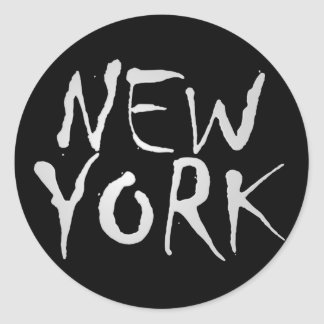 ニューヨークのスタイリッシュなステッカー ラウンドシール