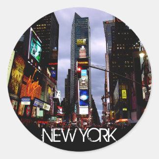 ニューヨークのステッカーのニューヨーク・タイムズの正方形の記念品 ラウンドシール