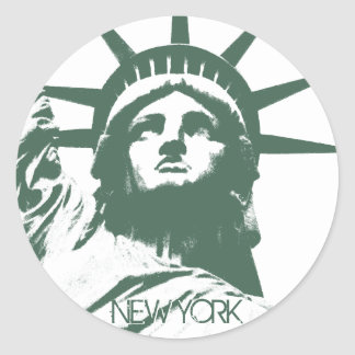 ニューヨークのステッカーの涼しいニューヨークの記念品のステッカー ラウンドシール
