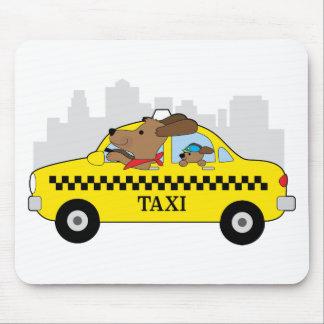 ニューヨークのタクシー犬 マウスパッド