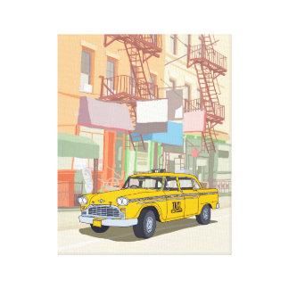 ニューヨークのタクシー キャンバスプリント
