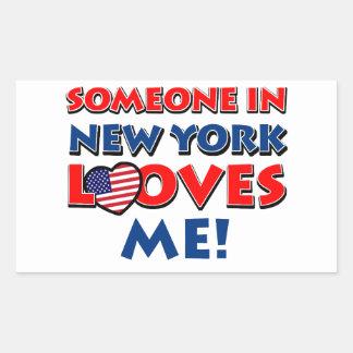 ニューヨークのデザイン 長方形シール