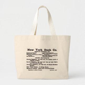 ニューヨークのドック会社の鉄道 ラージトートバッグ