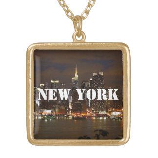 ニューヨークのネックレス ゴールドプレートネックレス
