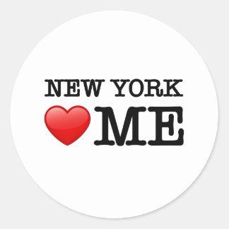 ニューヨークのハート私 ラウンドシール