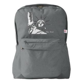 ニューヨークのバッグニューヨークのバックパックの自由の女神 AMERICAN APPAREL™バックパック