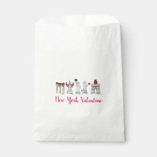 ニューヨークのバレンタインNYCのバレンタインデーの陸標 フェイバーバッグ
