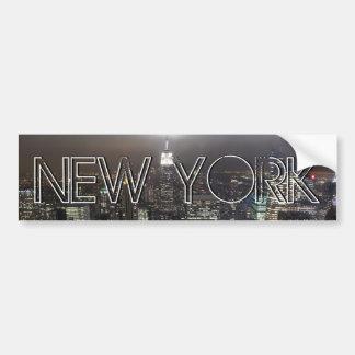 ニューヨークのバンパーステッカーNY都市バンパーステッカー バンパーステッカー
