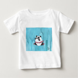 ニューヨークのパンダのチュチュ ベビーTシャツ