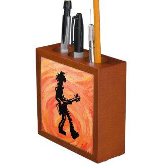 ニューヨークのブギウギ夜ギターのオレンジ ペンスタンド