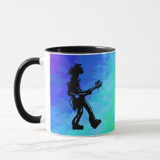 ニューヨークのブギウギ夜ギターの虹 マグカップ