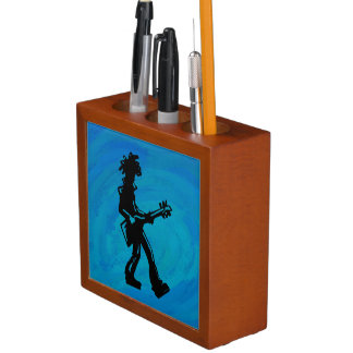 ニューヨークのブギウギ夜ギターの青 ペンスタンド