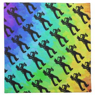 ニューヨークのブギウギ夜サクソフォーンの虹 ナプキンクロス