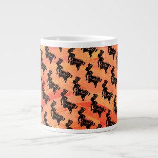 ニューヨークのブギウギ夜ドラムオレンジ ジャンボコーヒーマグカップ