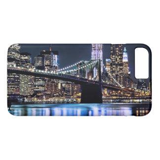 ニューヨークのブルックリン橋の反射の眺め iPhone 8 PLUS/7 PLUSケース