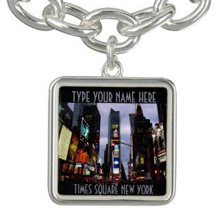 ニューヨークのブレスレットのタイムズ・スクエアNY都市記念品 チャームブレスレット