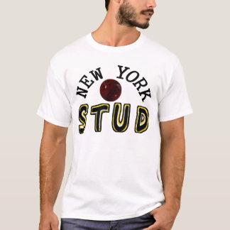 ニューヨークのボーリングのスタッド Tシャツ