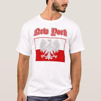ニューヨークのポーランドの旗 Tシャツ