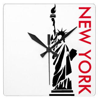ニューヨークのミニマリストの時計自由の女神 スクエア壁時計