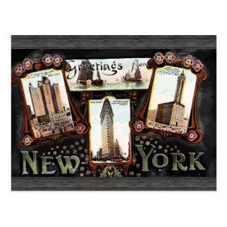 ニューヨークのヴィンテージからの挨拶 ポストカード