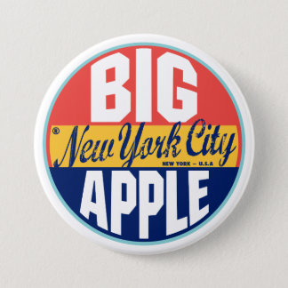 ニューヨークのヴィンテージのラベル 缶バッジ