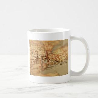ニューヨークのヴィンテージの地図 コーヒーマグカップ